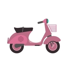 Retro motorbike isolated vector image