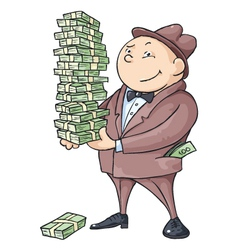rich man vector image
