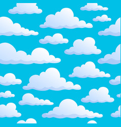 Seamless background clouds on sky vector