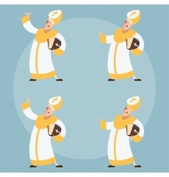 Set of catolic popes vector