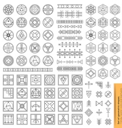 Set of minimal geometric monochrome shapes vector