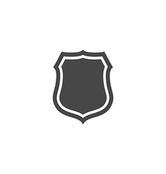 Shield icon in trendy flat style isolated on grey vector