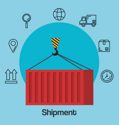shipments service business icons vector image