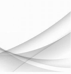 Smooth grey waves and lines abstract vector