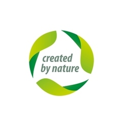 stamp of the natural product vector image