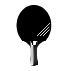 Table tennis or ping-pong racket silhouette vector