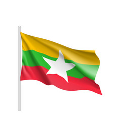 Union of myanmar or burma flag vector