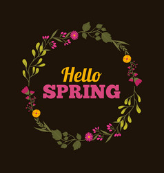 weather floral flowers natural season hello spring vector image