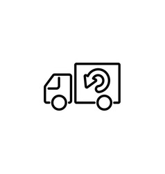 web line icon delivery black on white background vector image