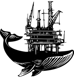 Whale Oil Rig vector image