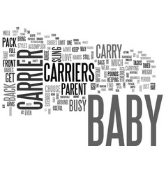 Which baby carrier will work best for you text vector