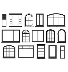 window silhouettes exterior framing windows vector image