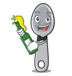 with beer spoon character cartoon style vector image