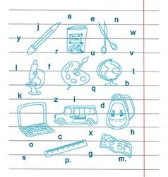 Back to school - pen sketch background vector image