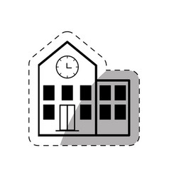 building school thin line vector image