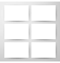 Empty Horizontal Cards Mockup vector image vector image