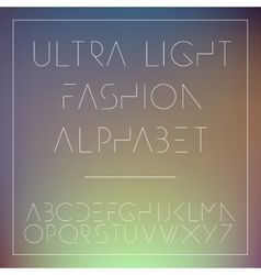 Light fashion alphabet letters collection vector image