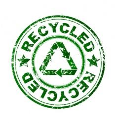 recycled grunge stamp vector image vector image