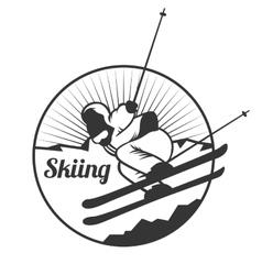 Ski resort logo emblems labels badges vector image