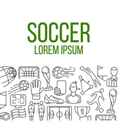 soccer icons in frame vector image