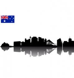Sydney silhouette vector image