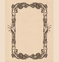 vintage mermaids frame vector image vector image