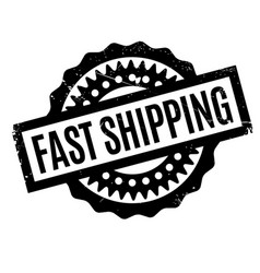 Fast shipping rubber stamp vector