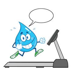 healthy water drop cartoon character running vector image vector image