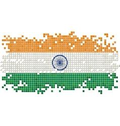 Indian grunge tile flag vector image