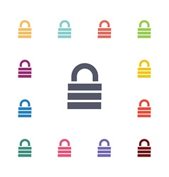 lock flat icons set vector image vector image