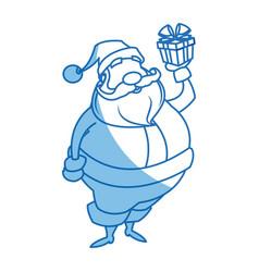 santa claus beard moustache christmas thin line vector image