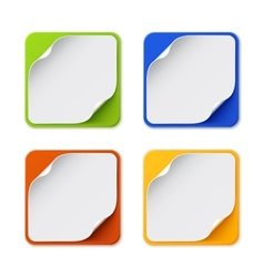 Set of four colorful square banners vector image