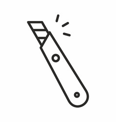 stationery knife icon vector image