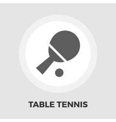 Table tennis icon flat vector image vector image