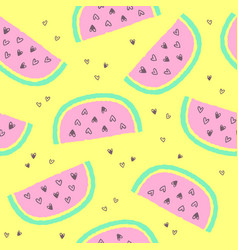 tropical summer seamless background vector image vector image