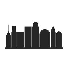 black silhouette city landscape with buildings vector image