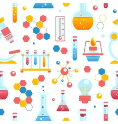 Chemistry seamless pattern vector image vector image