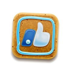 Cookie Thumbs Up icon vector image vector image