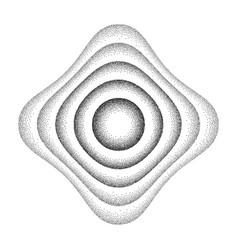 rounded shape background vector image