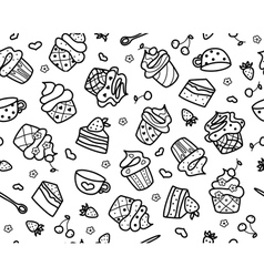 Seamless sweets vector