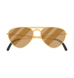 sun glasses on white background vector image vector image