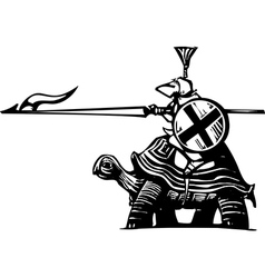 Turtle Knight vector image