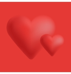Valentines composition of the hearts vector image vector image