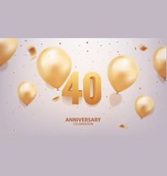 40th anniversary celebration vector