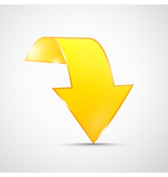 Abstract 3d Yellow Arrow Icon vector