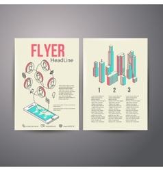 Abstract Brochure Flyer design template social vector