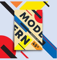 background with modern art design for flyer vector image