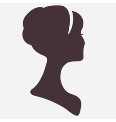 Beautiful woman head silhouette with stylish vector