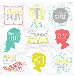 Beauty salon color vector image