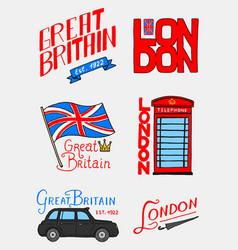 british logo symbols badges or stamps emblems vector image